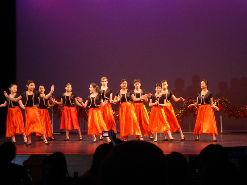 Chinese School dancers in Westbrook, Maine
