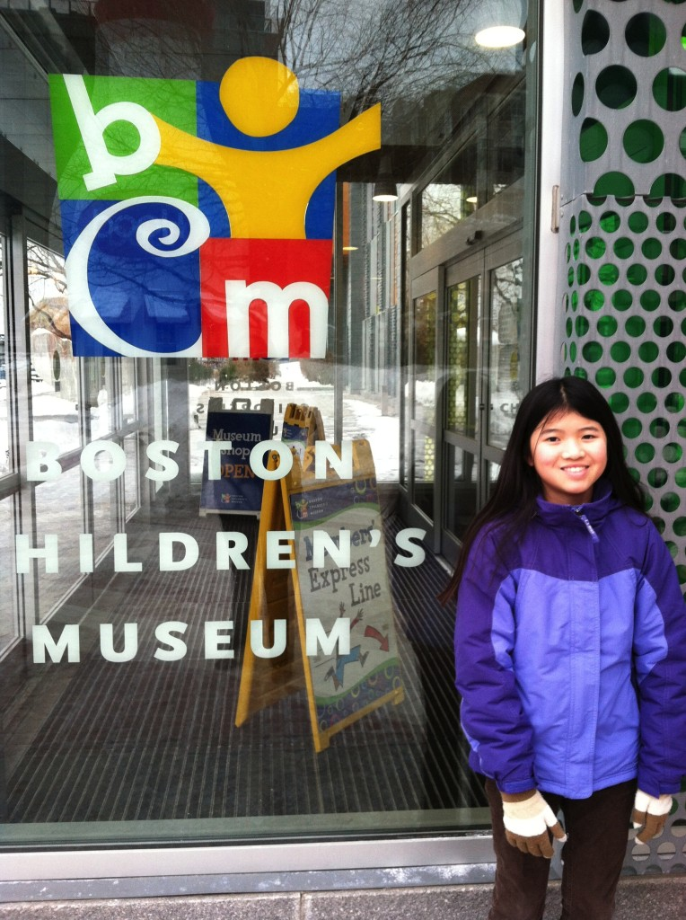 Boston Children's Museum- we made noisemakers with kids and had a book signing!