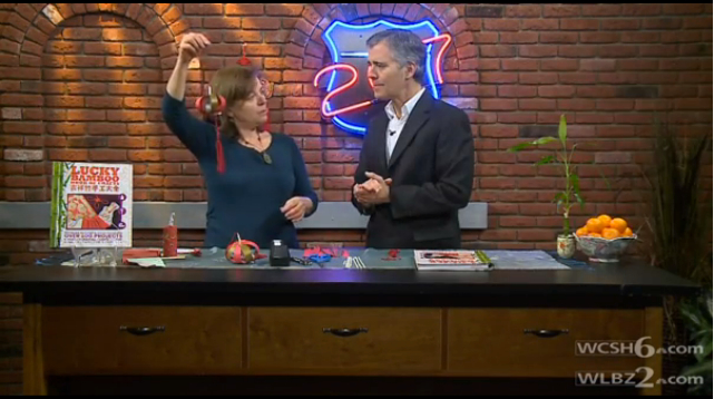 Jennifer DeCristoforo demonstrates craft on WCSH 207 program